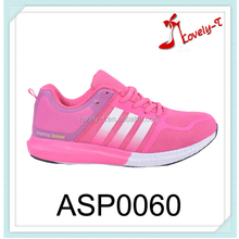 Made in china women sport shoes upper mesh material running sport shoes