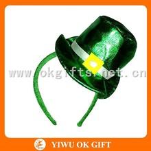 Green glittery fabric party headband, high quality padded headbands, st.patricks day souvenir
