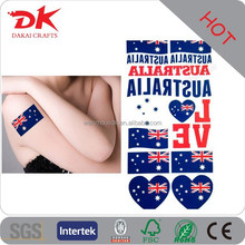Custom National Football Cheering small flag tattoo sticker