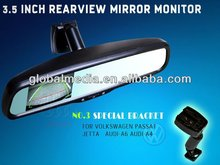 3,5INCH car mirror monitor with car rearview camera with parking guide line