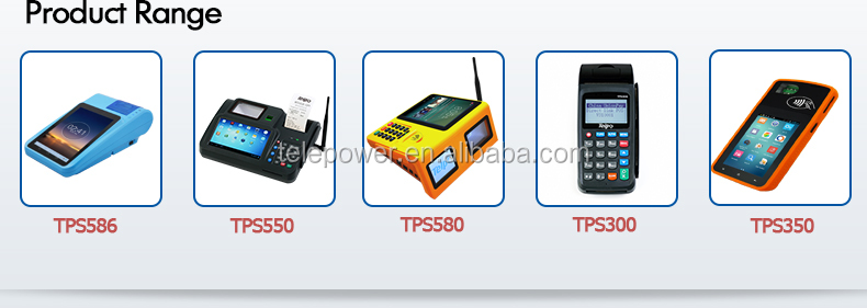 Telpo TPS300a Consumer POS Machine,EFT POS System with printer, CE, EMV, PCI Certificate