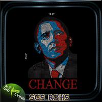 Rhinestone Transfer Custom For Obama Portrait Motif