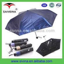 Nice design 3 Folding Meteor Shower Ladies Sun Block Umbrella