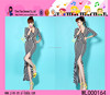 Chinese Long Sleeve Charming Sexy Girls Dress Custom Black White Stripping Evening Dresses