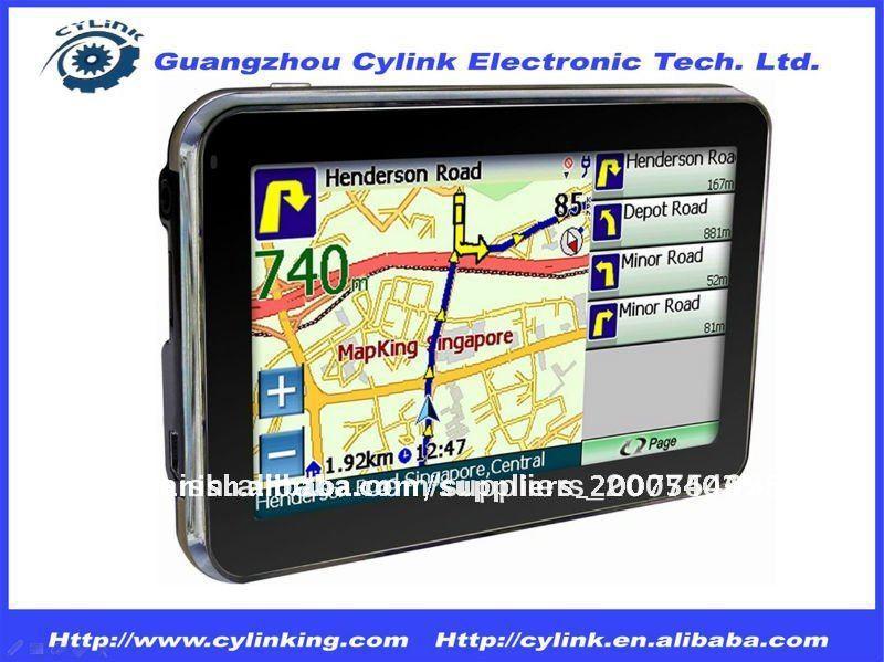 4,3 pulgadas de navegación GPS con 4 GB de memoria / Bluetooth / Mapas