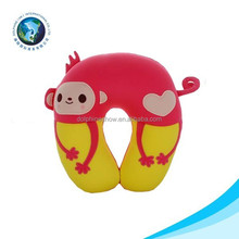 Customized soft U pillow neck pillow filled with polystyrene beads