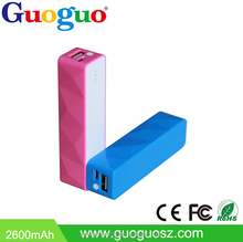 Guoguo Wholesale mini colorful 1800mAh portable power bank usb for iphone6,samsung,HTC,huawei,MI
