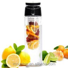 ผลไม้infuserขวดน้ำtritan- 24ออนซ์/ปากกว้าง& bpa- free/พลาสติกขวดน้ำผลไม้ที่มีผลไม้infuser