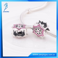 Full Color Zircon Stone Snowflake Luck 925 Silver Jewelry Bead Sets