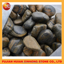 Tiger color pebble stone carved marble wall color showroom art decoration