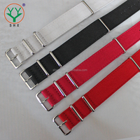 High Quality Customized Canvas NATO Watch Strap With Polish Buckle