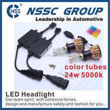 corrosion resistant low price CE 50000+ hours life time 9-16v 24w universal auto antiknock quality led head light