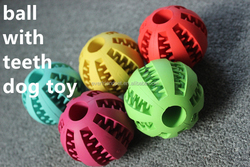 OEM wholesale dog toy ball Squeaky Ball Rubber Dog Toys
