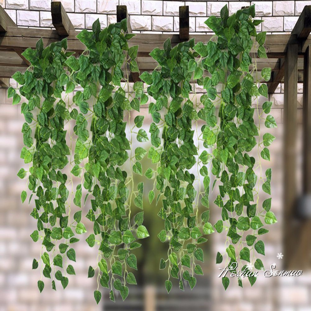 Real Look Wholesale Cheap Price Artificial Wall Hanging Vines Plastic  Material Ivy For Indoor Decoration , Buy Artificial Vine,Artificial Ivy