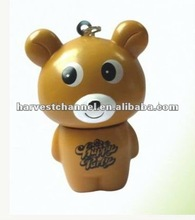 3D bear silicon pen with key chain