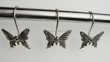 Butterfly &dragonfly design metal shower curtain hooks set/metal bathroom shower curtain hooks /Metal shower curtain hooks