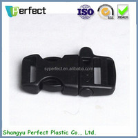 Black color 25mm size whistle buckle, small buckles for bracelet