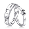 heart platinum 925 silver wedding ring price, engagement party ring(SWTJU429)