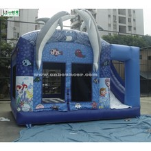 Sea world kids inflatable combo game with slide from professional inflatable manufacturer