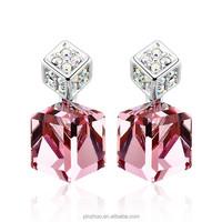Dongguan fashion jewelry accessories, charm rose stone earrings