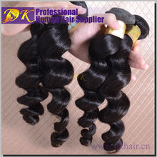 Best design high quality human hair weft loose wave malaysian hair extension human curl hair