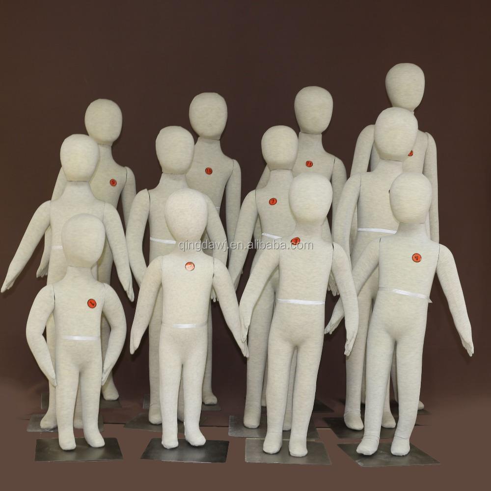 Adjustable fabric kids mannequin for children clothes display for Fabric for children s clothes