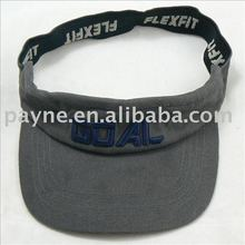 2012 100% cotton blank sun visor cap with banding