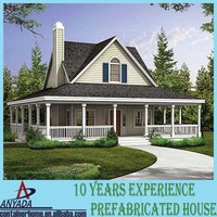 china Prefabricated Villa luxury prefabricated houses concrete prices low cost prefab light steel villa for sale