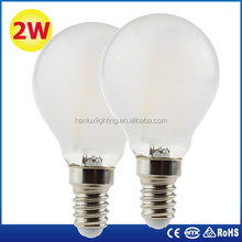 Dimmable G45 LED filament bulb E14 E27 with CE ROHS ERP report pass EMC LVD 25000hrs
