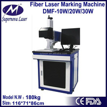 with cover CE certificate optical fiber 20w laser machine laser marking black and white