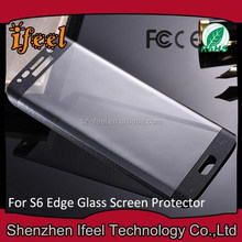 For Samsung Galaxy S6 Shock Proof Accessories Curved Edge Full Coverage Tempered Glass Screen Protector S6