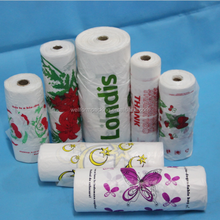 High quality plastic printed t shirt bag on roll for vegetable and fruit