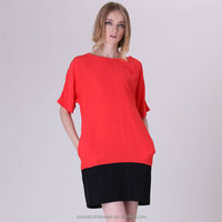 YIGELILA Brand 6320 Cheap Women Fashion Colourblock Formal Dresses Clothes Plus Size