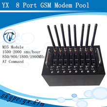Stable performance 8 port gsm modem control at commands stk with free sms software