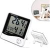 ESUN Indoor Digital Hygrometer Thermometer Hygro Psychrometer with Large LCD Display Humidity Temperature Alarm Clock