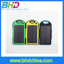 2015 wholesale power bank solar panel charger 5000mah solar powerbank for cellphone