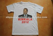 2012 Custom election campaign cotton polyester t-shirt silk screen print round neck advertising low price t shirt