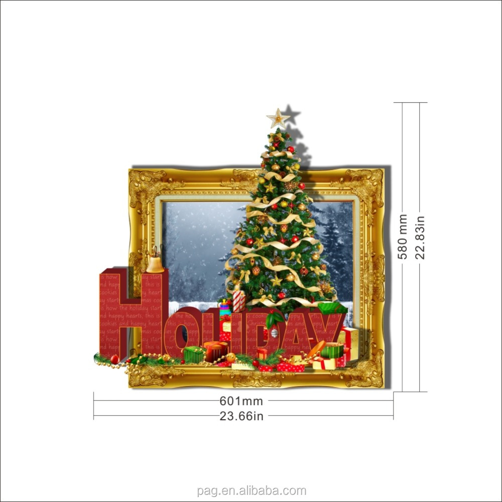 Wholesale Christmas Gift 3d Wall Sticker Art Home Decor