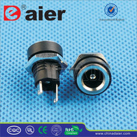 Daier Black Plastic 2.1mm/2.5mm Nuted DC-022B 12V DC Connector Jack/Electrical Plug/DC PowerJack