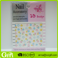 popular beautiful colorful stars water transfer Nail Stickers art nail sticker