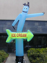 Lovely inflatable air dancer for ice cream advertising