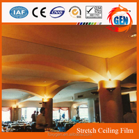 interior false ceiling recyclable materials decorative PVC fire rated ceiling film