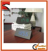 Hot ! Fashionable LED digital wooden alarm clock table clock