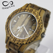 bamboo watches classic and popular quartz men&women wooden watch leather strap handcrafted wooden watches