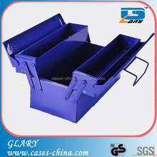 blue portable stainless steel small metal tool box