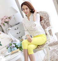 2015 summer blouse ladies office bead blouses polyester chiffon women office tops factory