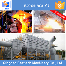 Induction electric furnace dust and fume extraction export to global