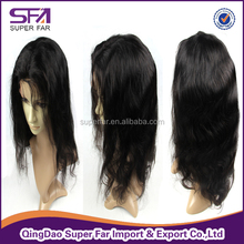 Top quality cheap stop full lace wig with baby hair, gray hair full lace wig