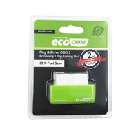 Plug and Drive Green EcoOBD2 Economy Chip Tuning Box for Benzine 15% Fuel Save