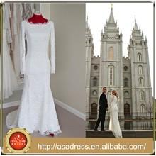 ZT04 Vintage Long Sleeve Sheath Scoop Bride Dress Lace Slim Buying Wedding Dress From China